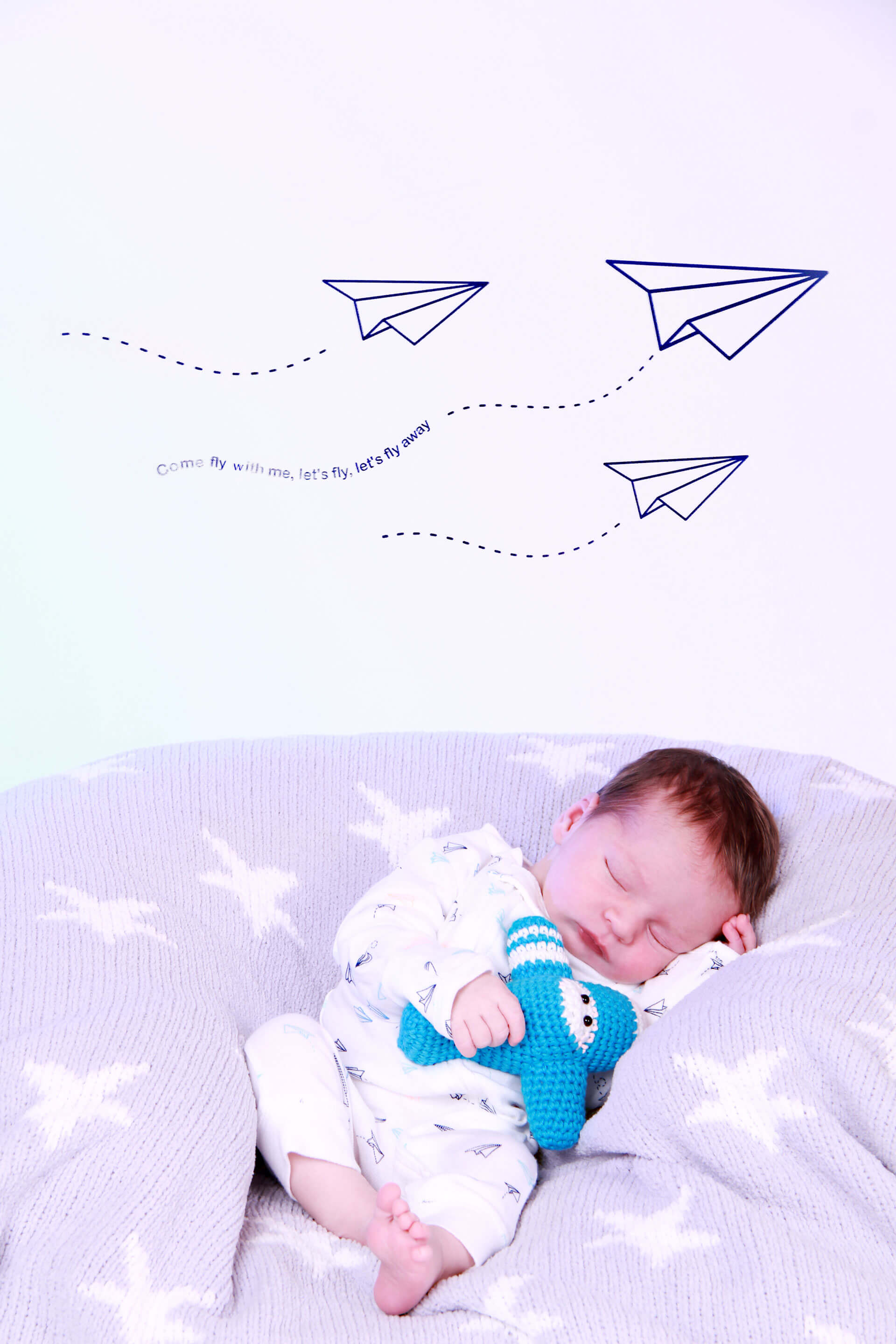 Baby Photo Planes Background